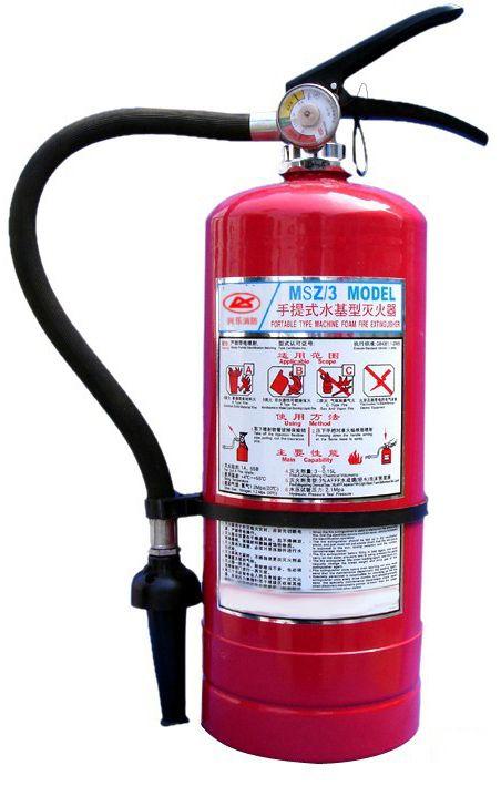 红色瓶身水基灭火器